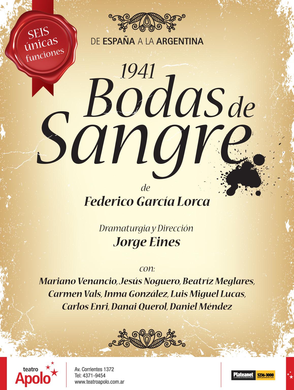 BODAS DE SANGRE – Teatro Apolo