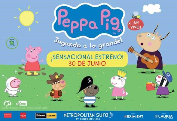 PEPPA PIG EN EL METROPOLITAN SURA  A PARTIR DEL 30 DE JUNIO