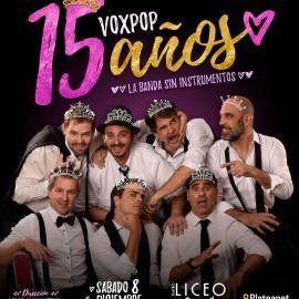 Voxpop en el Liceo Comedy // Sábados 8 y 14 de Diciembre