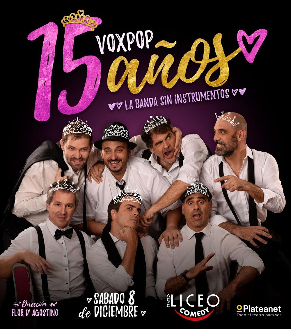 Voxpop en el Liceo Comedy // Sábado 8 de Diciembre